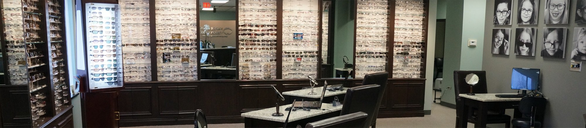 Our Downers Grove eyewear showroom.