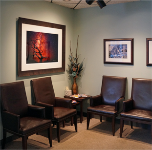 Naper Grove Vision Care Office Waiting Room