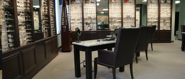 Try on eyeglasses at our vision centers.