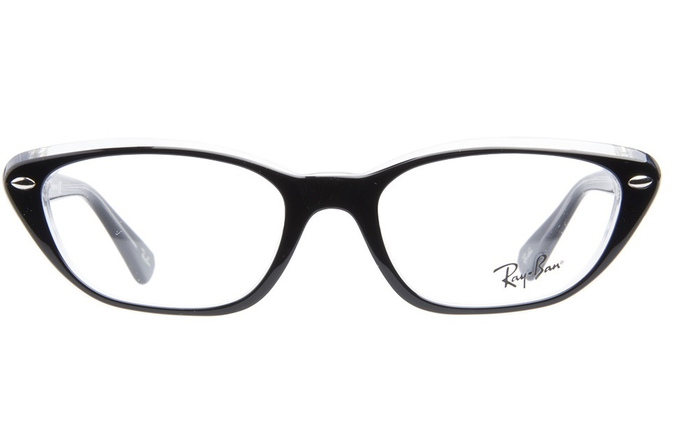 4956dcd795 Ray Ban Eyeglasses 5242. Jun20. Elderly friends. Ray-Ban RB 5242 5111 Top  Light Blue on Transparent Eyeglasses